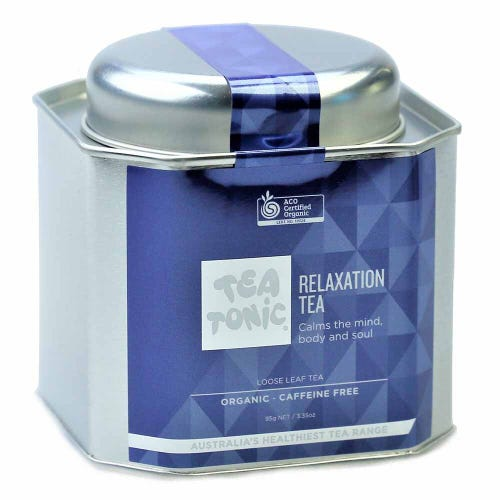 Tea Tonic relaxation Loose Tea in a Tin 95g