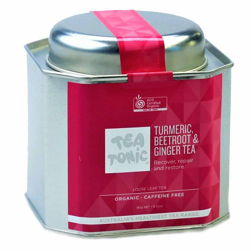Tea Tonic Turmeric, Beetroot & Ginger Loose Tea in a Tin 145g