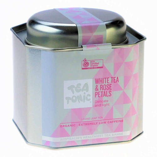 Tea Tonic White Tea & Rose Petals in a Tin 75g