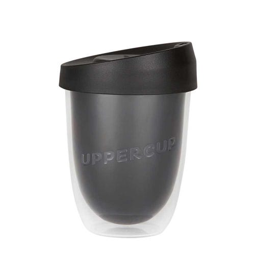 Uppercup Small Coffee Cup Black (8oz)