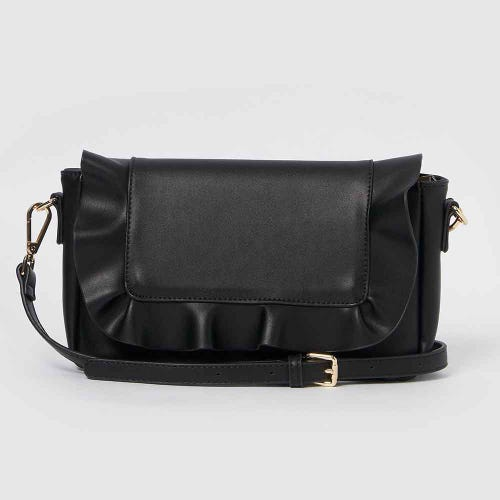 Urban Originals Frill Clutch - Black