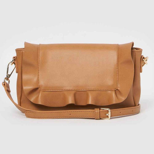 Urban Originals Frill Clutch - Tan