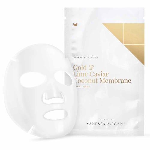 Vanessa Megan Gold & Lime Caviar Coconut Membrane (1 Sheet Mask)