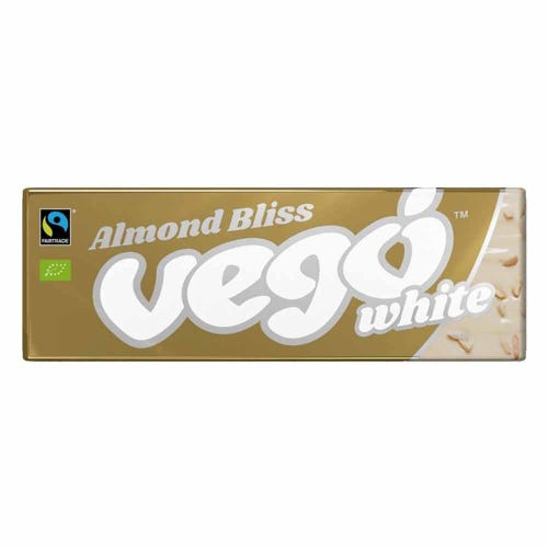Vego White Chocolate Almond Bliss Bar (50g)