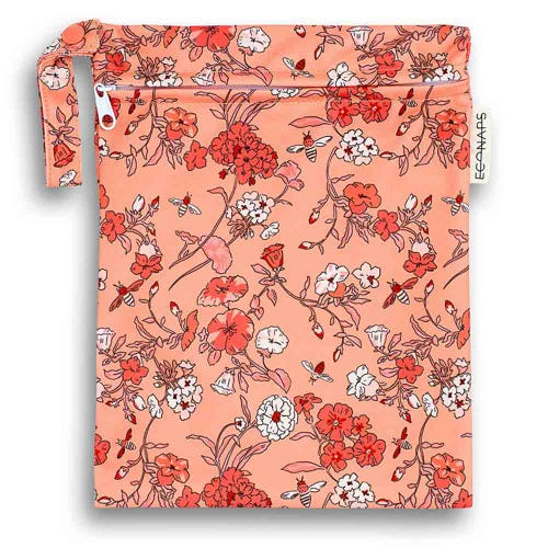 EcoNaps Reusable Mini Wet Bag - Vintage Blossoms