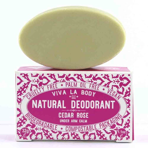 Viva La Body Petite Natural Deodorant Cedarwood & Rose (32g)