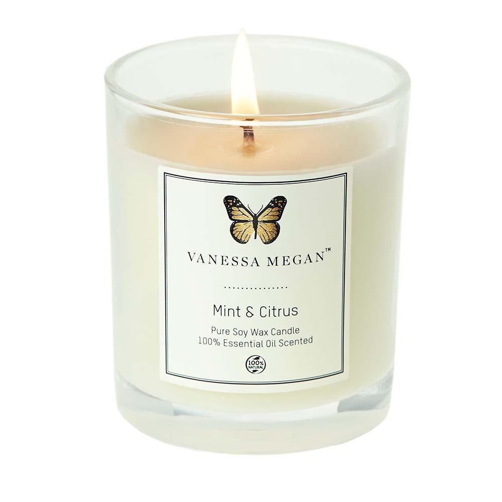 Vanessa Megan Soy Wax Candle Mint & Citrus (220g)