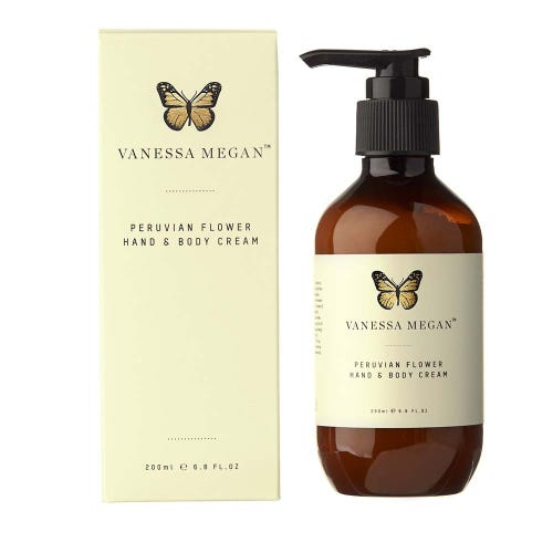 Vanessa Megan Peruvian Flower Hand and Body Cream (200ml)