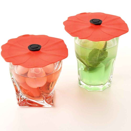 Charles Viancin Poppy Drink & Can Covers 2Pk 10cm