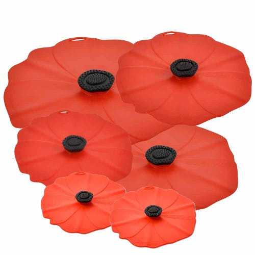 Charles Viancin Poppy Lid 6 Pack - Save 20%
