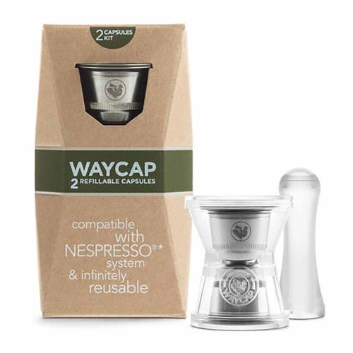 WayCap Reusable Coffee Capsules 2 Pack