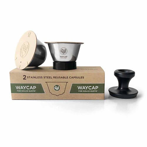 WayCap Reusable Coffee Capsules Dolce Gusto 2 Pack