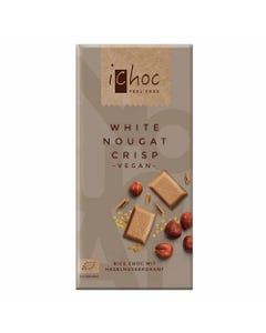 iChoc White Nougat Crisp Vegan Chocolate