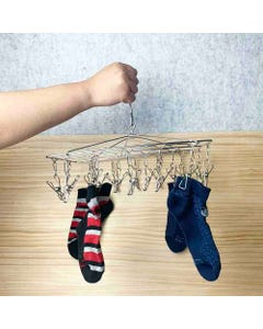 Wire Pegs Grade 304 Stainless Steel 18 Peg Clothes Hanger