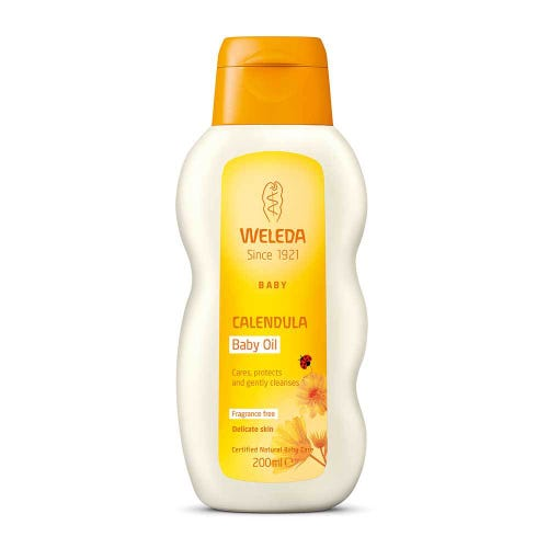 Weleda Calendula Baby Oil Fragrance Free (200ml)