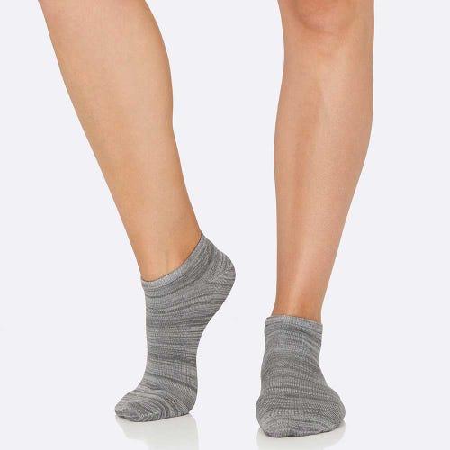 Boody Women's Low Cut Socks - Grey Space Dye