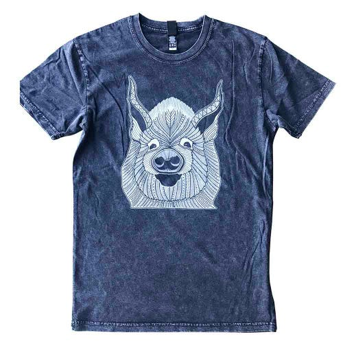 Where Pigs Fly Stonewash Unisex T Shirt with Edna