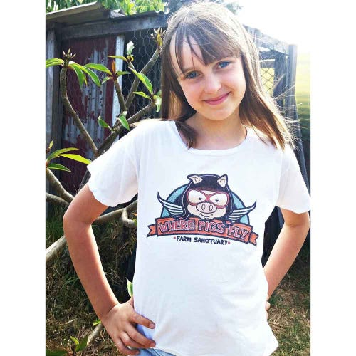 Where Pigs Fly T Shirt with Logo - Child