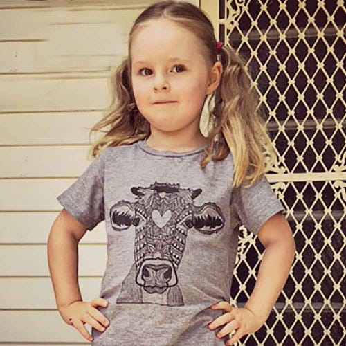 Where Pigs Fly T Shirt Valentine Grey - Child