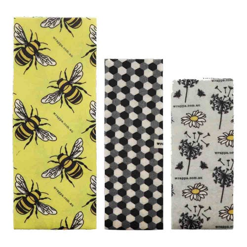 Wrappa Vegan Organic Cotton Wrap - Busy Bees