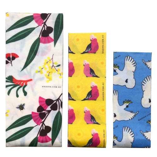 Wrappa Vegan Organic Cotton Wrap - Birds & Bees