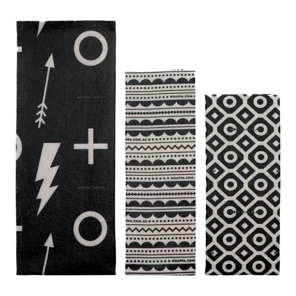 Wrappa Vegan Organic Cotton Wrap - Black Lightning