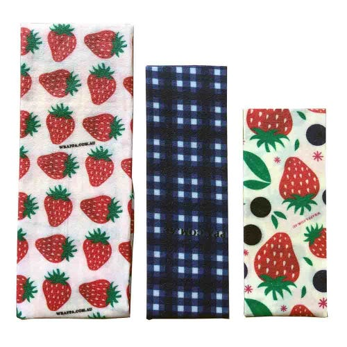 Wrappa Vegan Organic Cotton Wrap - Strawberries