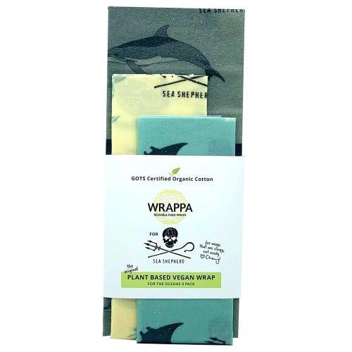 Wrappa Vegan Organic Cotton Wrap - Sea Shepherd