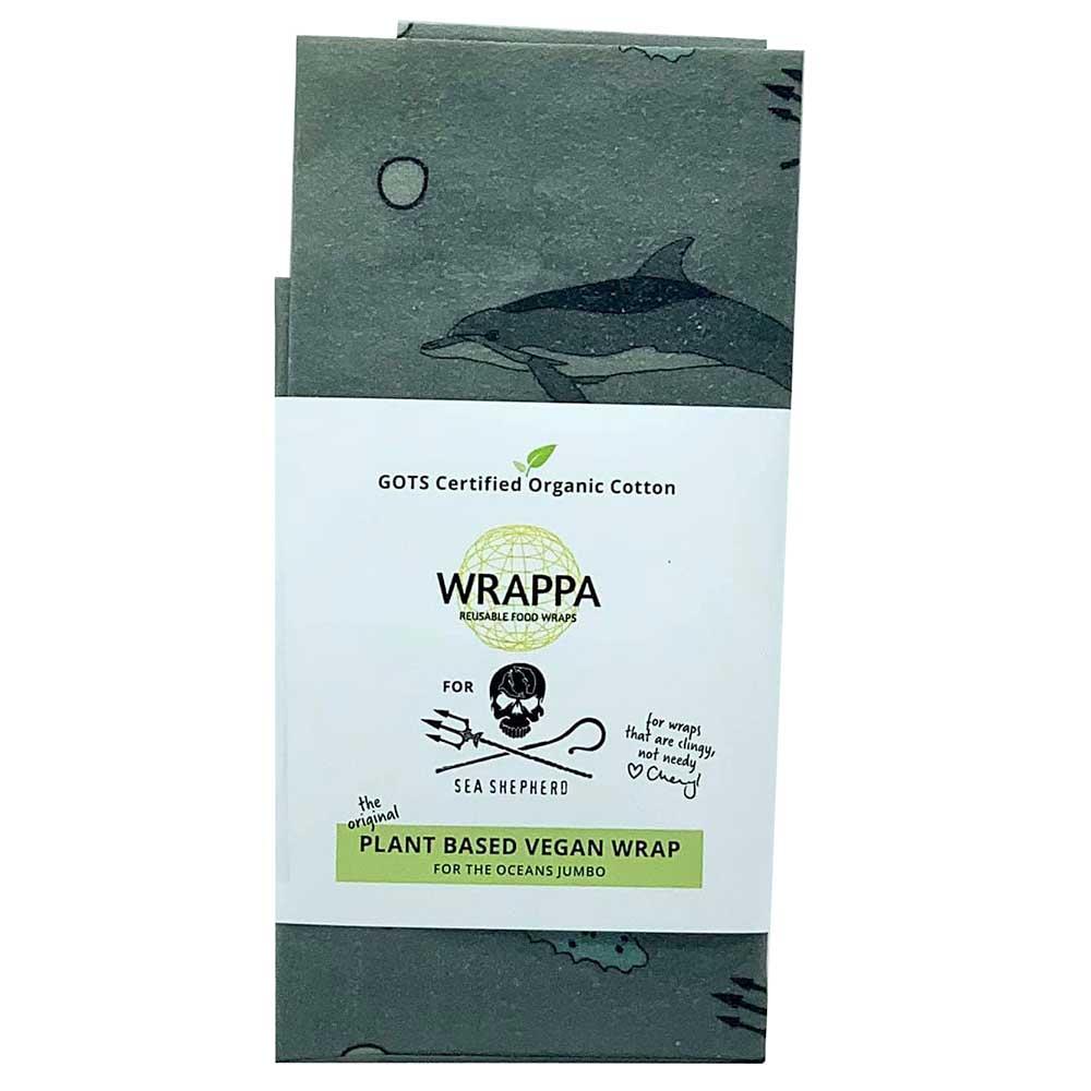Wrappa Vegan Jumbo Organic Cotton Wrap - Sea Shepherd