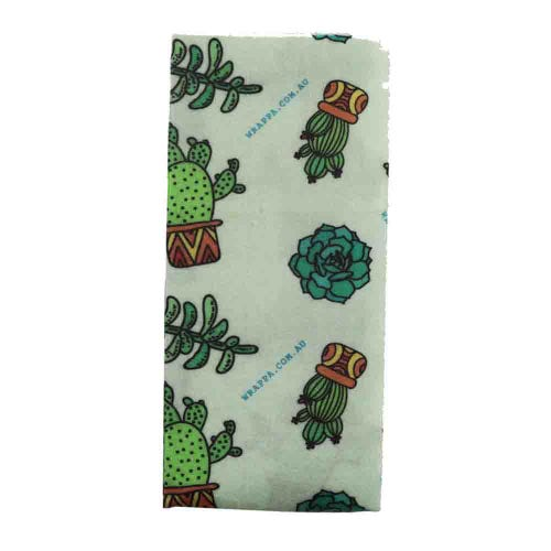 Wrappa Vegan Jumbo Organic Cotton Wrap - Cacti & Succulents