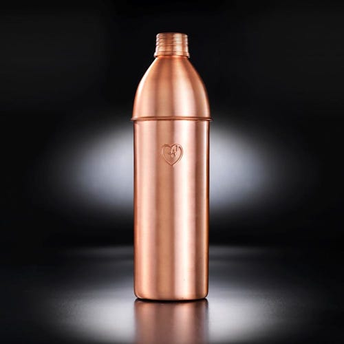 Yogibeings Copper Water Bottle Matte (750ml)