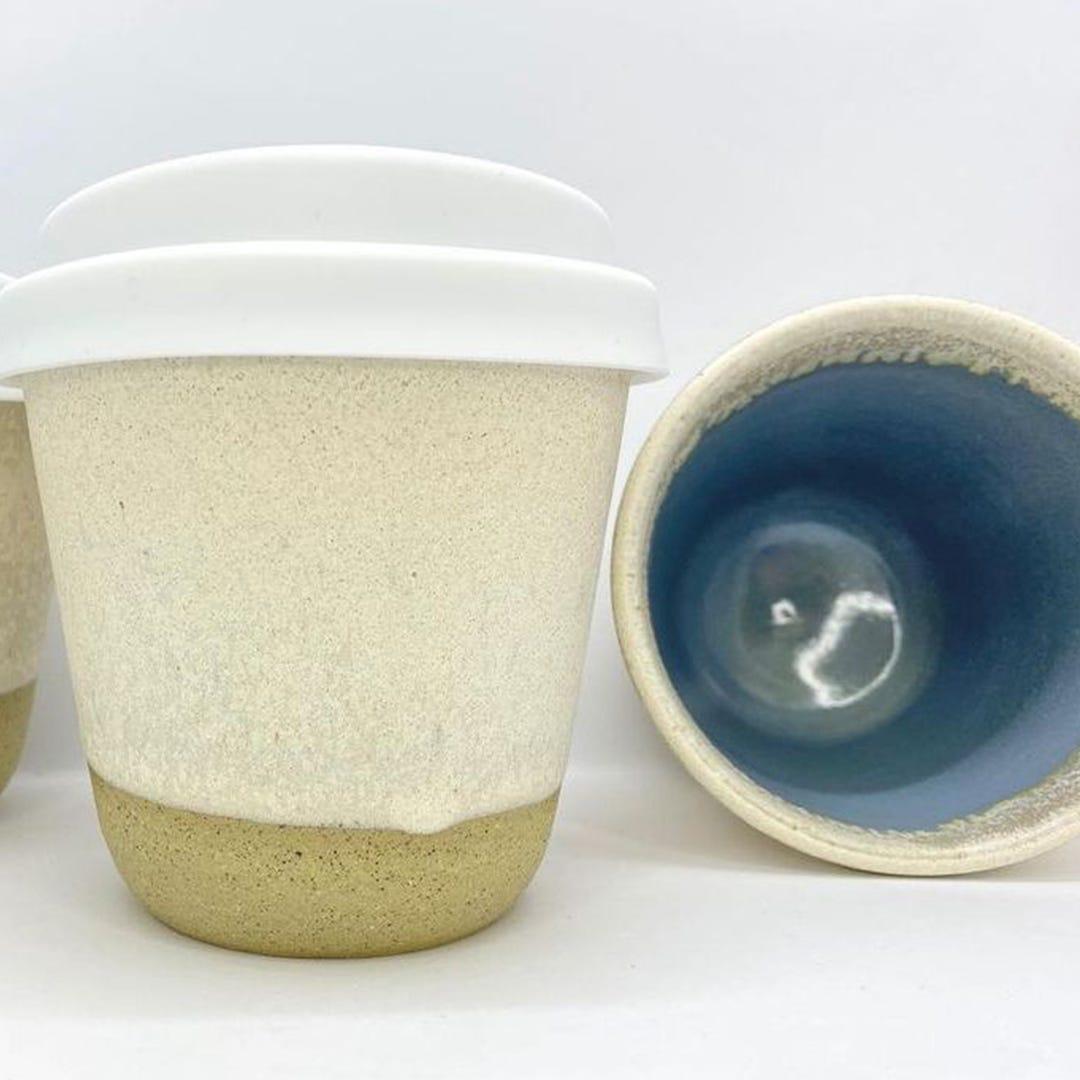 Bryteka Pottery Coffee Cup - Chalk (6oz)