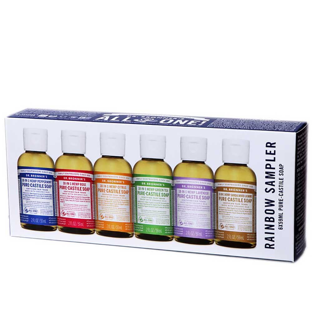 Dr Bronner's Rainbow Sampler Pack (6 x 59ml)