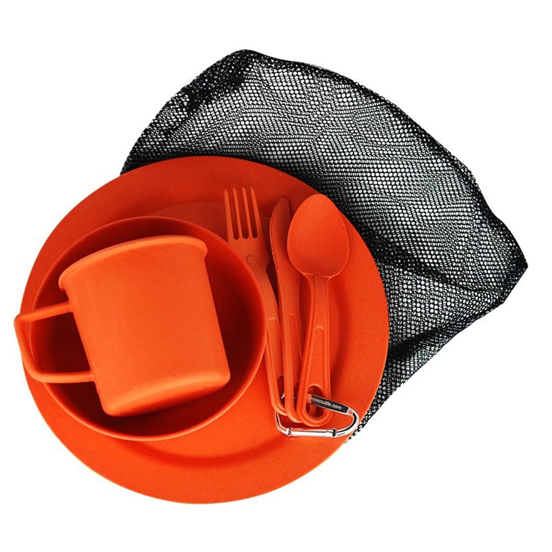 EcoSouLife Reusable Camping Set - Orange