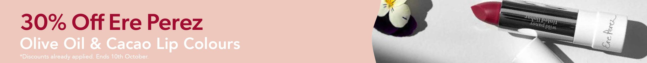 30% Off Ere Perez Lip Colours