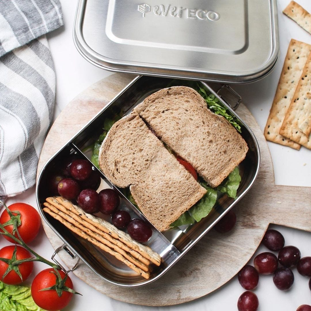 Ever Eco Stainless Steel Bento Lunch Box 2 Compartments