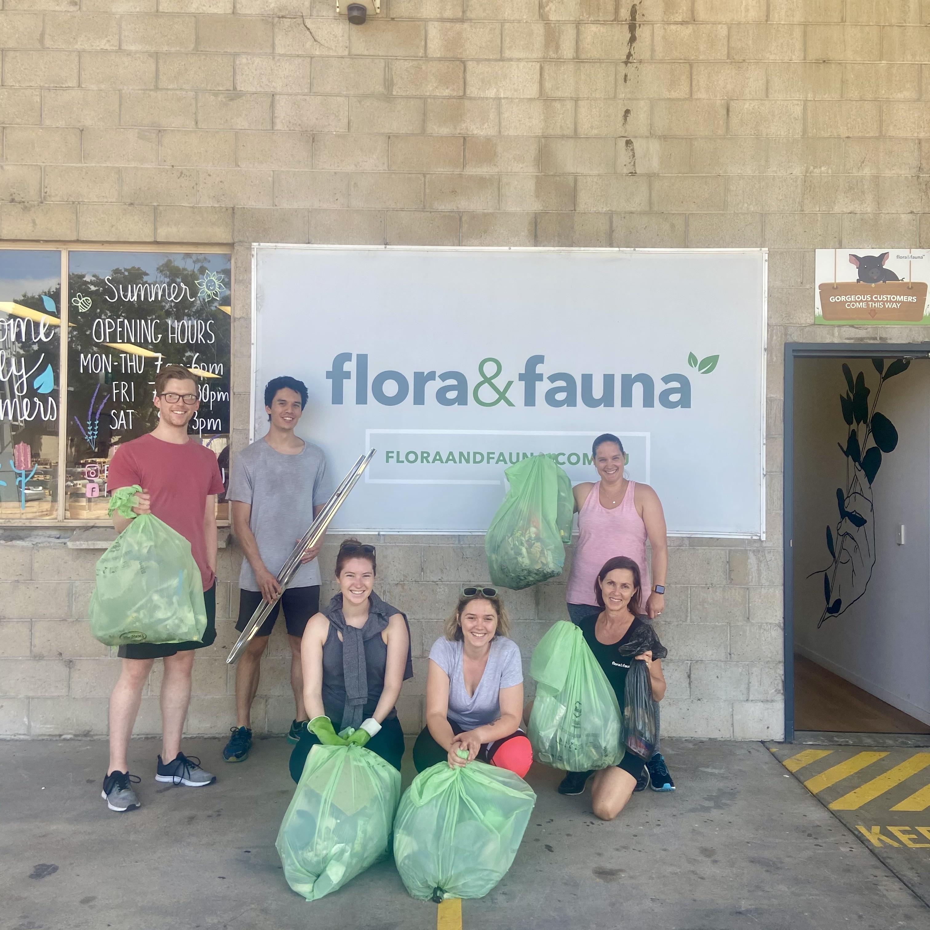 Business Clean Up Day - Flora & Fauna Team