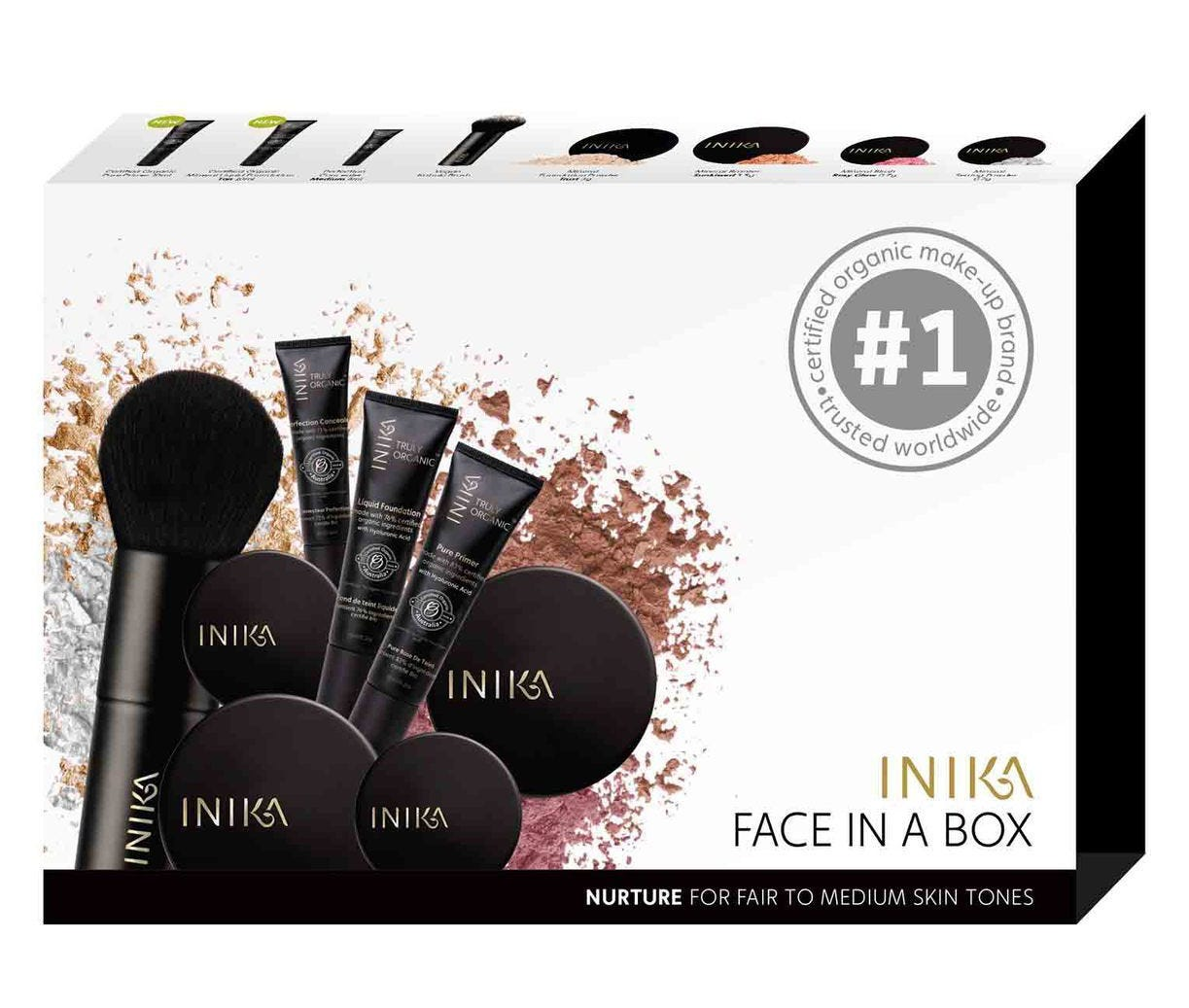 Inika Face in a Box Kit - Nurture - Fair to Medium Skin