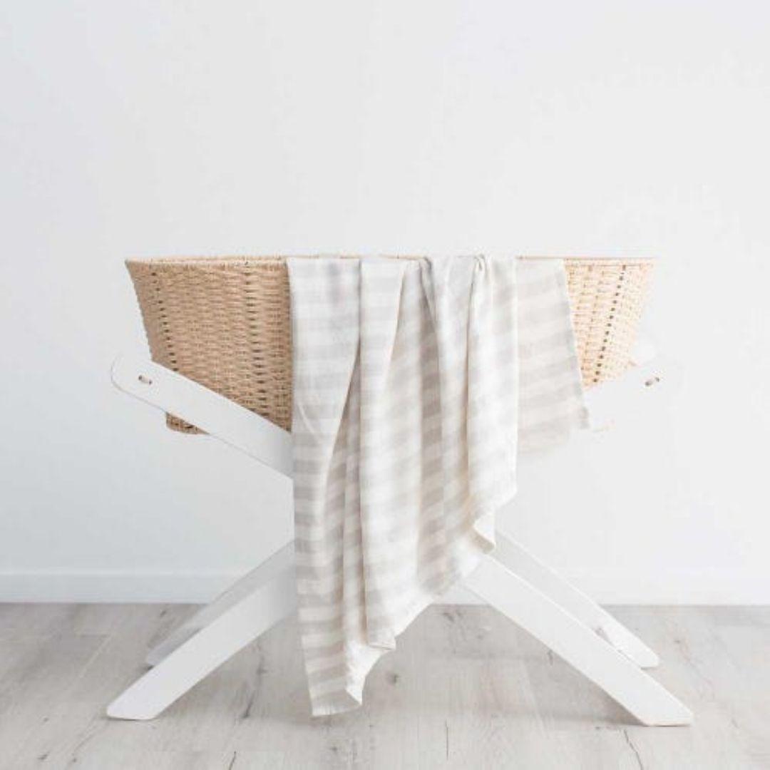 Love & Lee Bamboo Blanket Grey