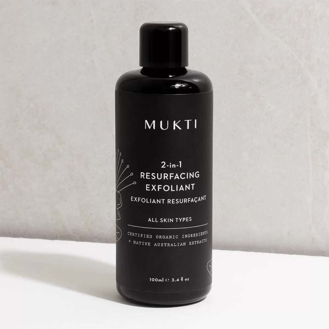 Mukti 2 in 1 Resurfacing Exfoliant