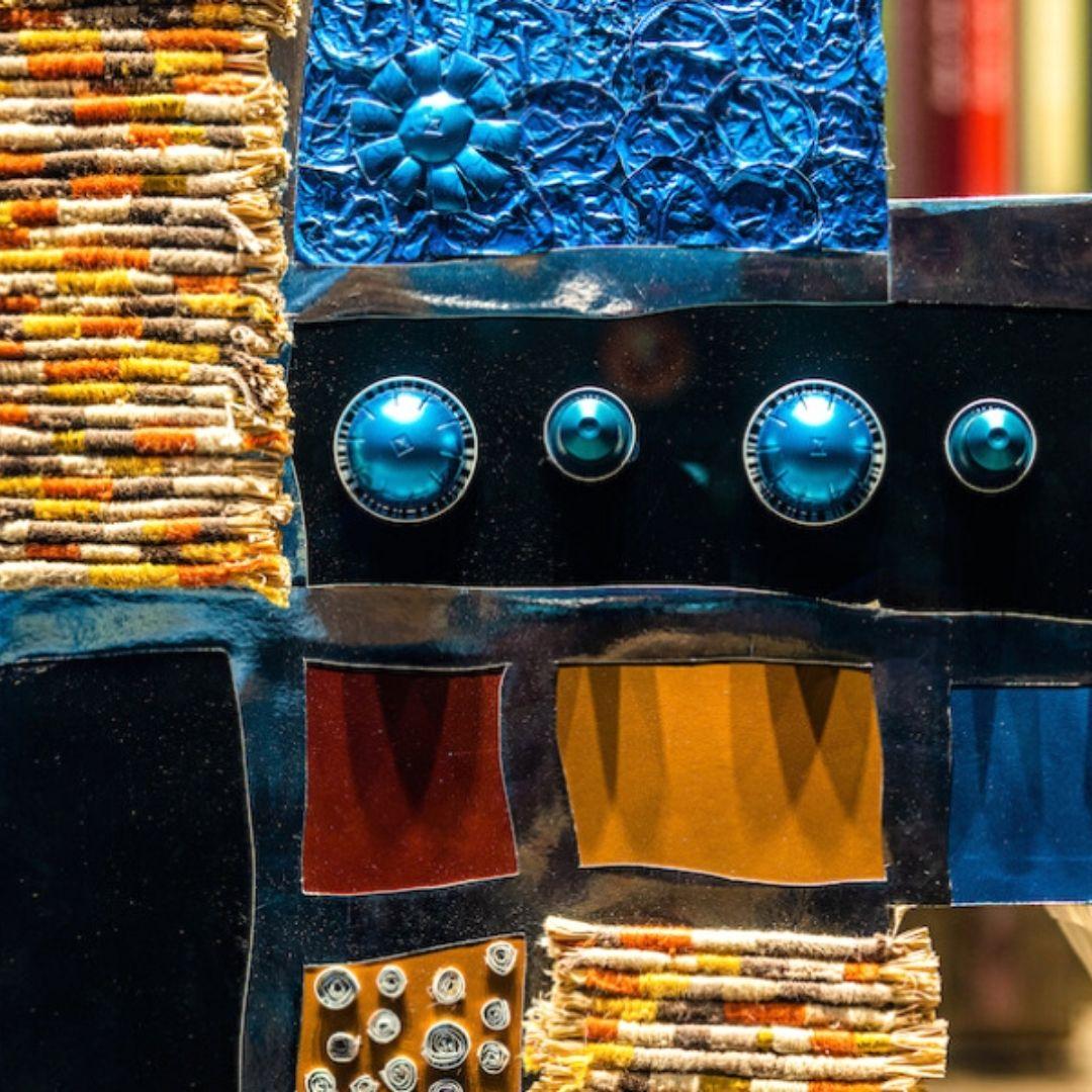 Nespresso Recycled Coffee Capsules Art