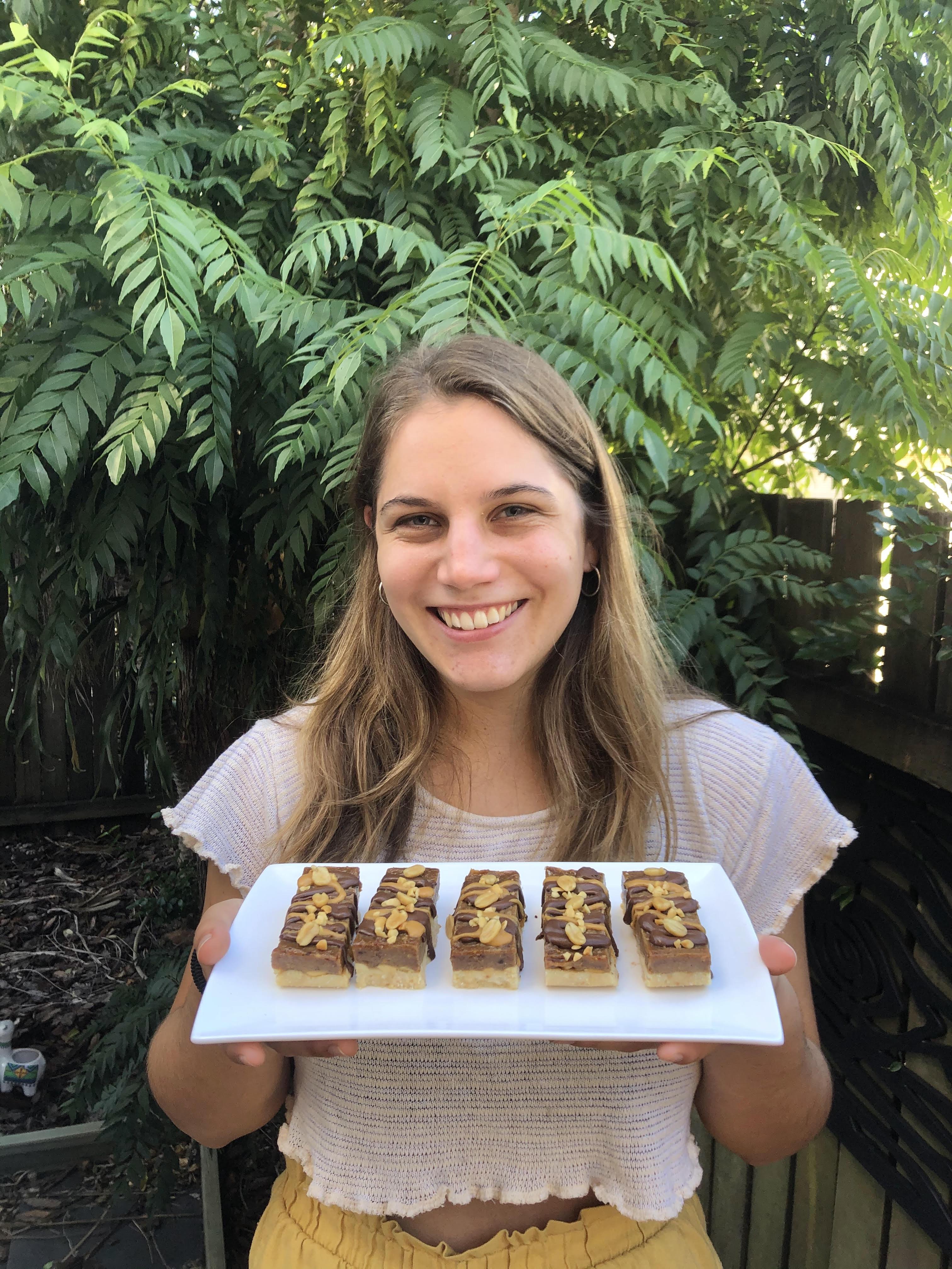 Raw Vegan Snickers Bar Slice Recipe