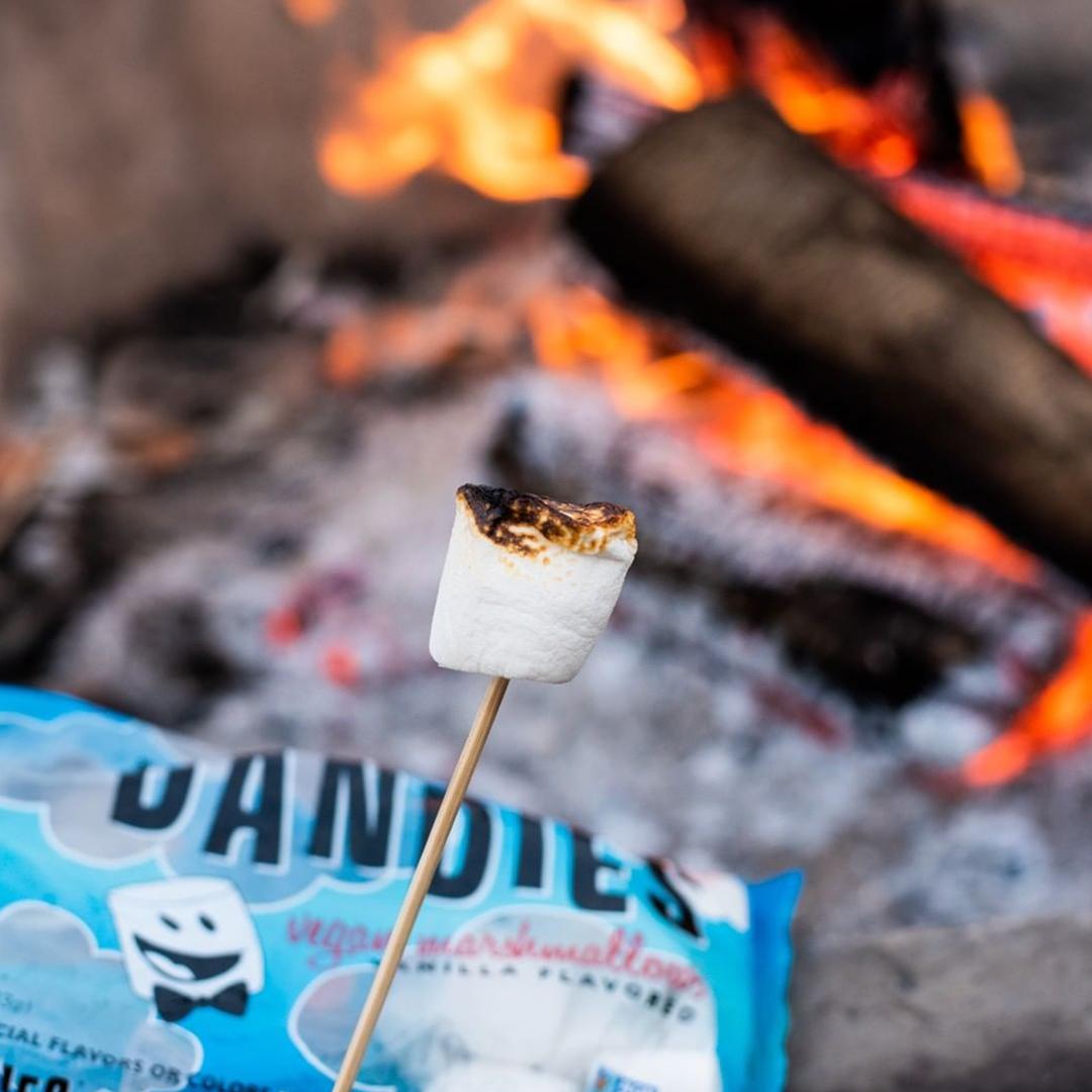 Roasting vegan marshmallows