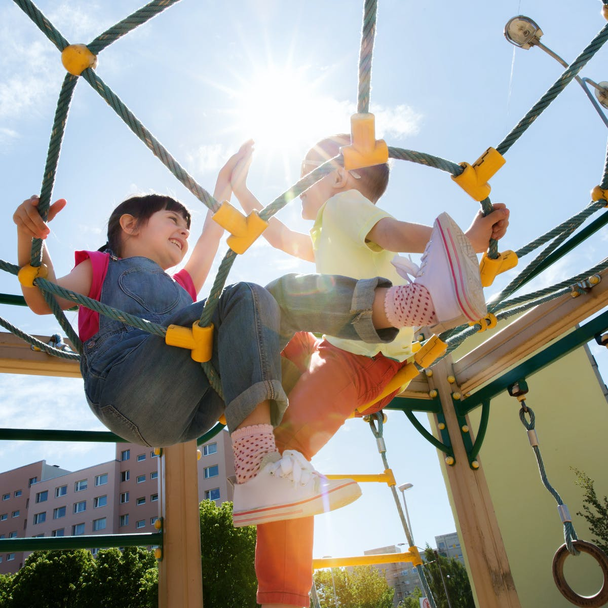 Screen Free School Holiday Activities - Head to the playground