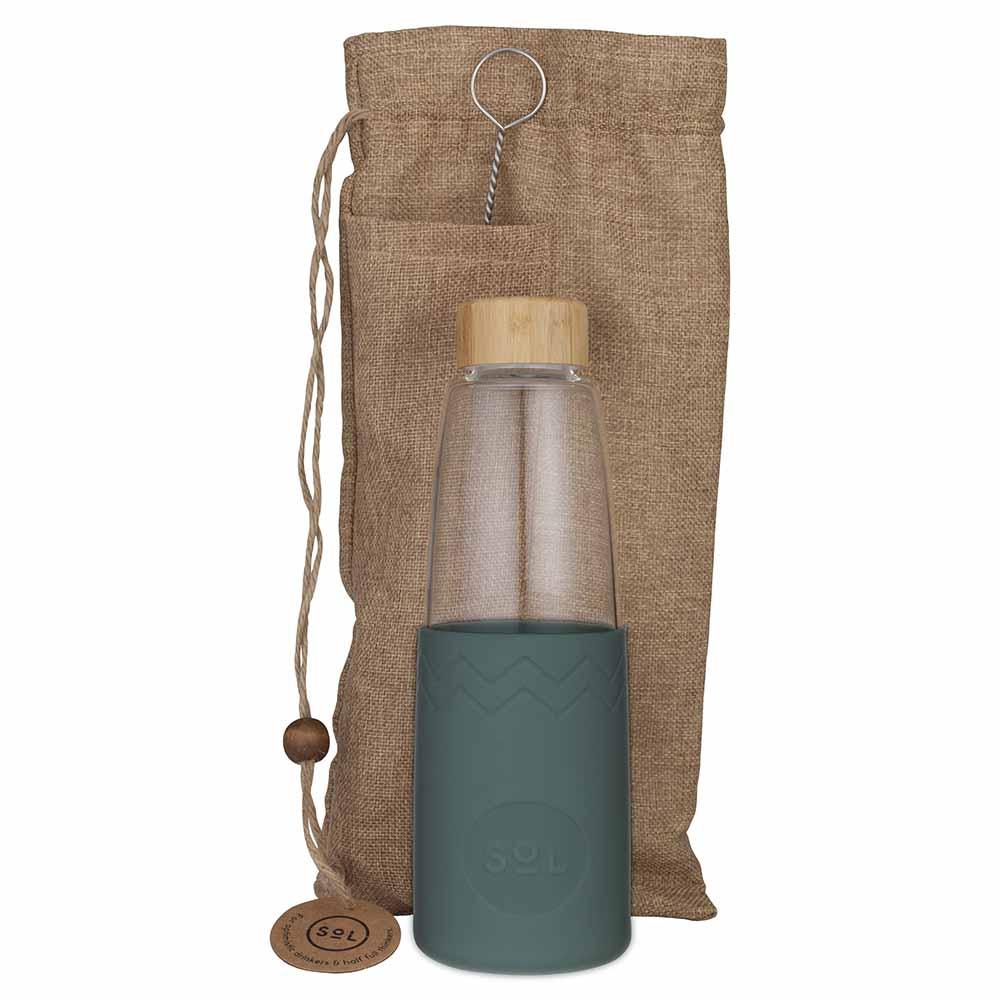 SoL Reusable Glass Bottle Deep Sea Green (850ml)