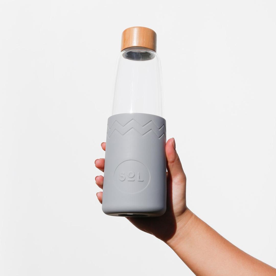SoL Reusable Glass Bottle