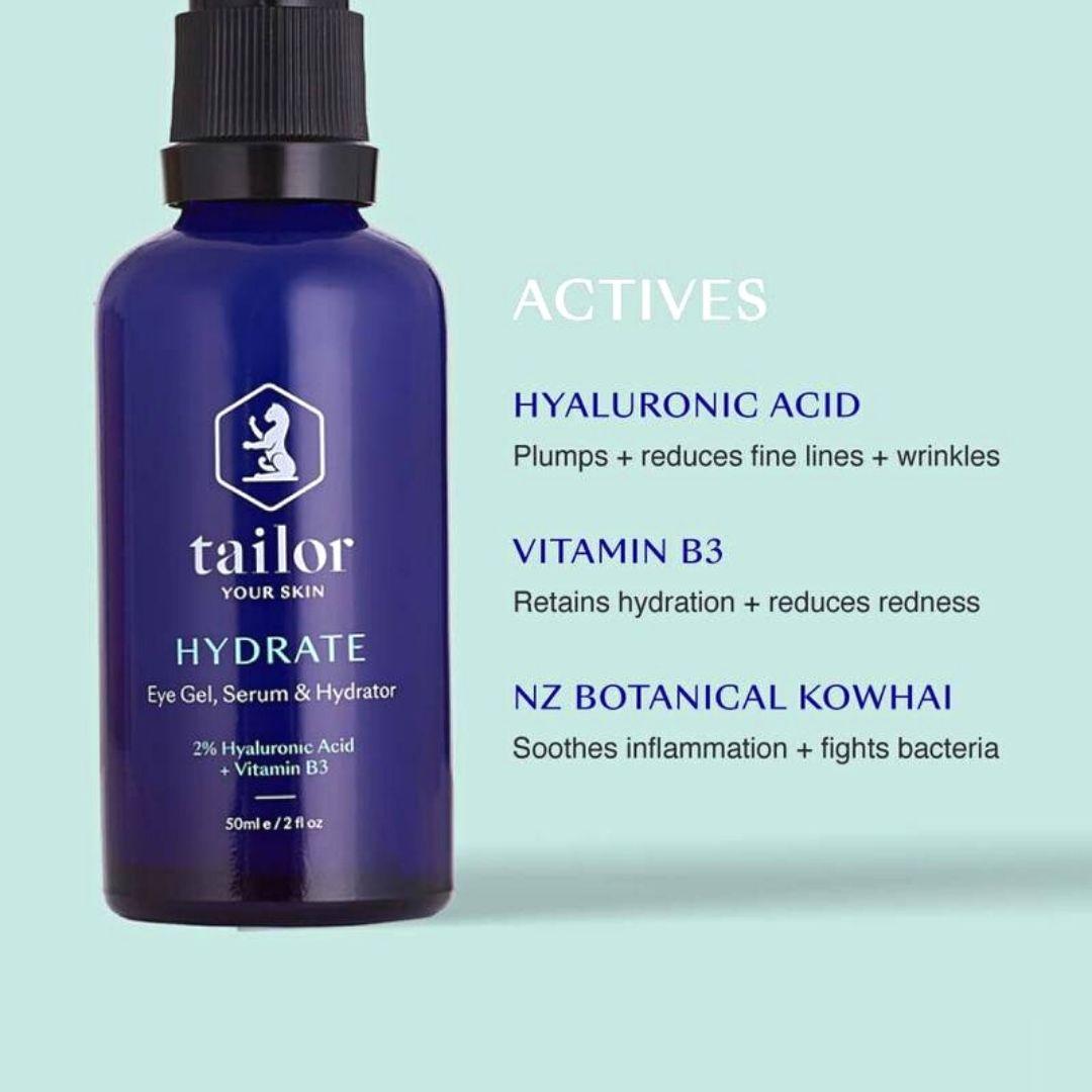 Tailor Skincare Hydrating Eye Gel & Facial Serum