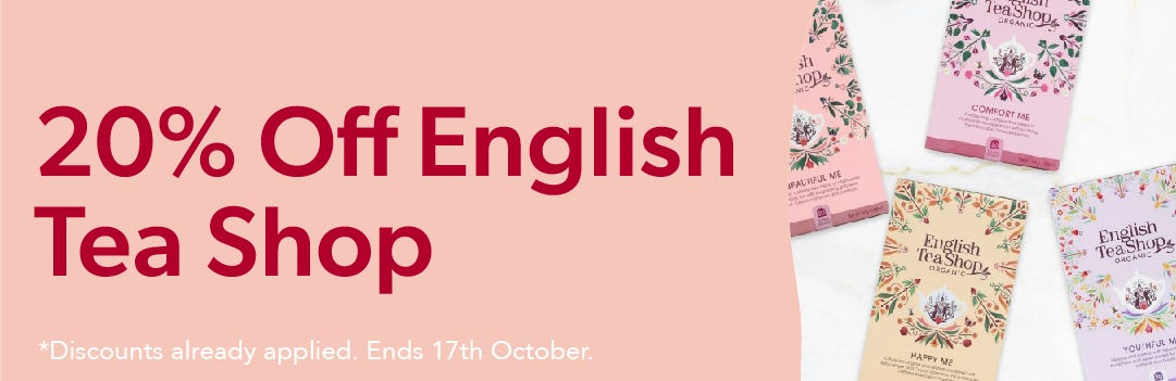 20% Off English Tea Shop