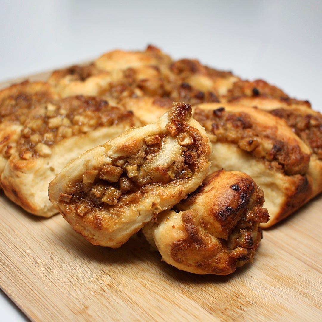 Vegan Apple Caramel Scrolls Recipe
