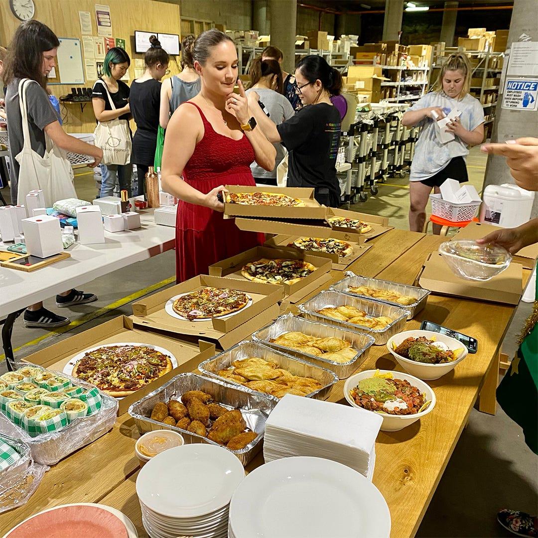 Green Lion Vegan Catering at work